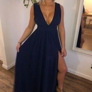 Navy Lulus Maxi Dress